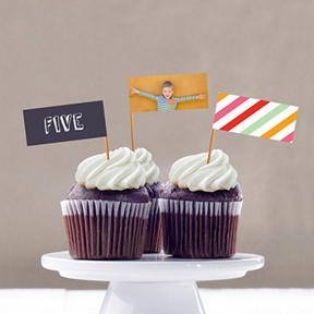 Sip Something Cool Cupcake Flags -- Kids Party Decorations