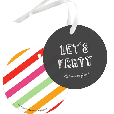 Sip Something Cool Kids Birthday Favor Tags