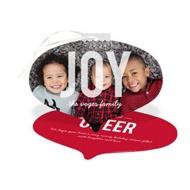Oval Ornament Christmas Cards
