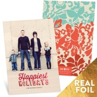 Foil Holidays Christmas Cards