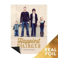 Foil Holidays Magnet Christmas Cards