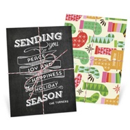 Chalkboard Trio Tied With Twine Christmas Cards