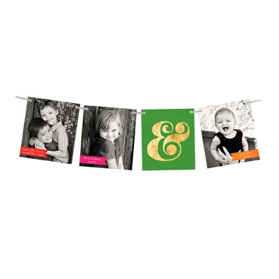 Ampersand Ribbon Strand Photo Christmas Cards