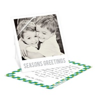 Gingham Greeting Single Christmas Cards