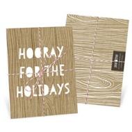 Kraft Paper Trio Tied With Twine Christmas Cards