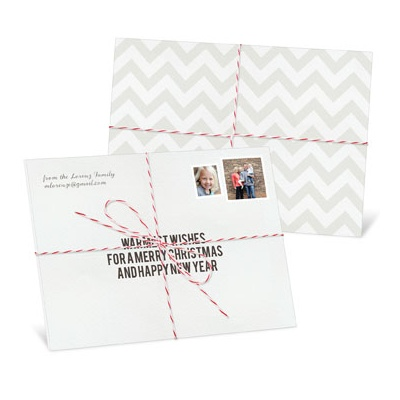 Christmas Package Tied With Twine Photo Christmas Cards