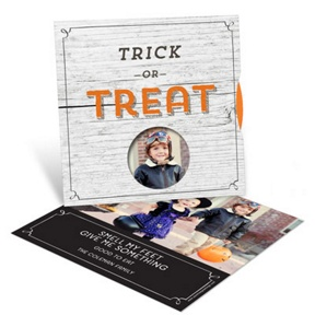 Trick Or Treat Spinner -- Halloween Photo Cards