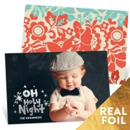 Foil Holy Night Religious Christmas Cards