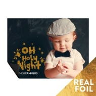 Foil Holy Night Magnet-- Christmas Cards