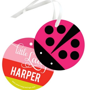 Little Ladybug -- Kids Birthday Favor Tags
