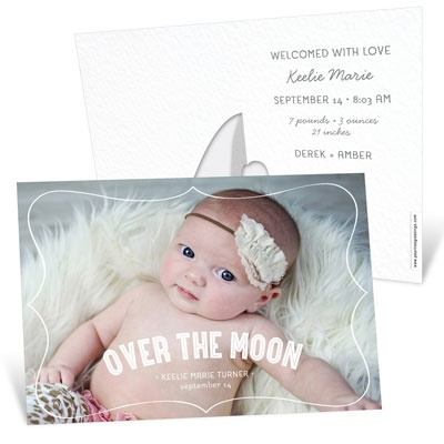 Horizontal Picture Frame Girl Birth Announcements