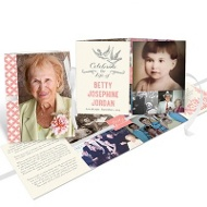 Times Remembered Ribbon Booklet Memorial Cards