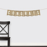 Krafted Congrats Banner Graduation Party Decorations