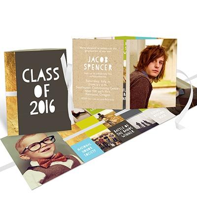 Kraft Ribbon Booklet For Him College Graduation Announcements
