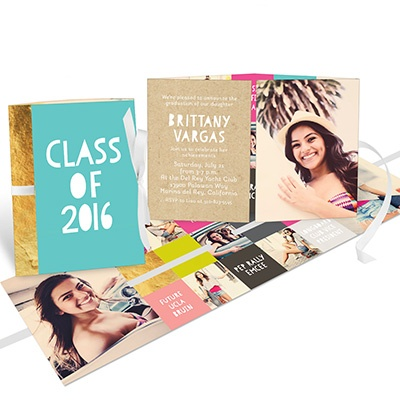 Kraft Ribbon Booklet for Her Graduation Announcements