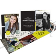 Year In Dots Ribbon Booklet College Graduation Announcements