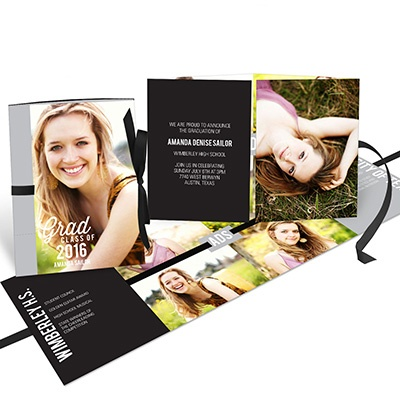Favorite Photo Ribbon Booklet Graduation Announcements