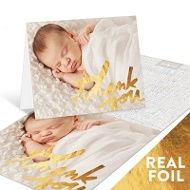 Foil Thanks Baby Thank You Cards