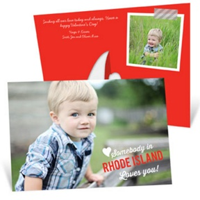 Somebody Loves You Picture Frame -- Valentine's Day Photo Cards