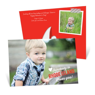 Somebody Loves You Picture Frame Valentine's Day Photo Cards
