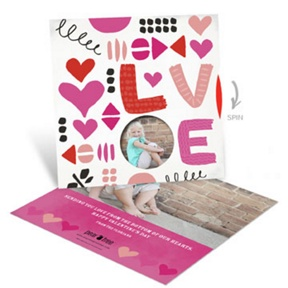 Love Doodles Spinner -- Valentine's Day Photo Cards