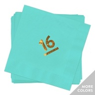 My Big Year Gold Foil Luncheon Size Graduation Napkins