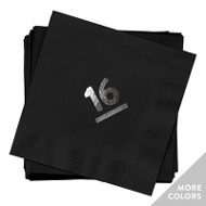 My Big Year Silver Foil Luncheon Size Graduation Napkins
