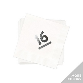 My Big Year Silver Foil Beverage Size -- Graduation Napkins
