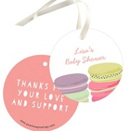 Pretty Macarons Favor Tags Baby Shower Decorations