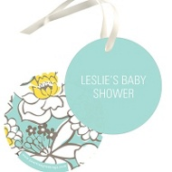 Burst Of Blooms Favor Tags Baby Shower Decorations
