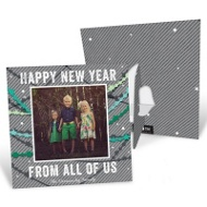 Colorful Streamers Picture Frame New Year's Cards