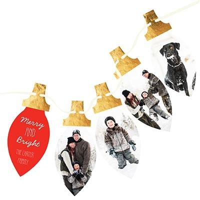 Shining Lights 4 Photos Christmas Cards