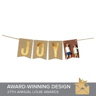 Joy Faux Foil Banner Christmas Cards