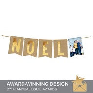 Noel Faux Foil Banner Christmas Cards