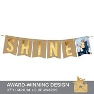 Shine Faux Foil Banner Christmas Cards