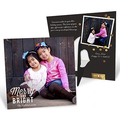 Deck The Halls Picture Frame Christmas Cards