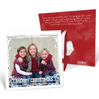 Scrollwork Picture Frame Christmas Cards