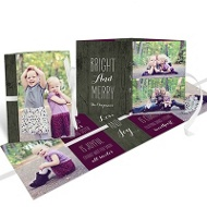 Rustic Ribbon Booklet Christmas Cards