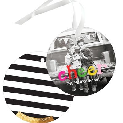 Colorful Cheer Christmas Gift Tags