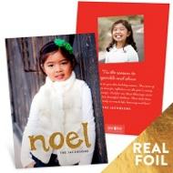 First Noel Foil Vertical Christmas Cards