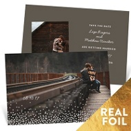 Falling Foil Sprinkles Save The Date Cards