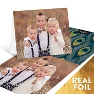 Falling Foil Confetti Personalized Note Cards