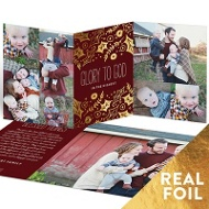 Happy Holly Foil Trifold Religious Christmas Cards