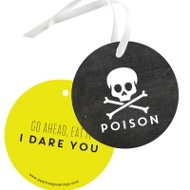 Toxic Treat Tags Halloween Decorations