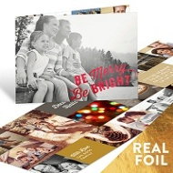 Shining Bright Foil Folded Christmas Cards