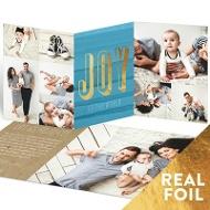 Foil Joy Trifold Religious Christmas Cards