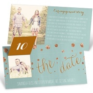 Faux-Glitter Confetti Pop Up Save The Date Cards