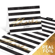 Foil & Stripes Thank You Cards