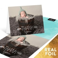 Hand Lettered Foil Thank You Cards