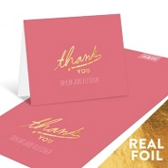 Foil Thank You Baby Thank You Cards